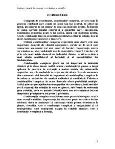 Legatura Chimica in Compusi Coordinativi ai Metalelor - Pagina 2