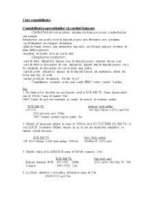 Contabilitatea Operatiunilor cu Carduri Bancare si Credite - Pagina 1