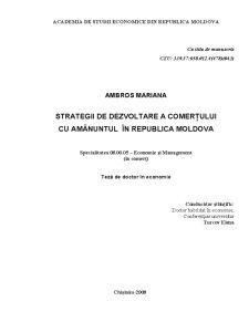 Strategii de Dezvoltare a Comerțului cu Amănuntul în Republica Moldova - Pagina 1