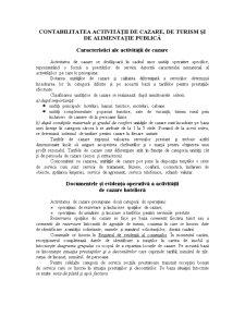 Contabilitatea Activitatii de Cazare, de Turism si de Alimentatie Publica - Pagina 1
