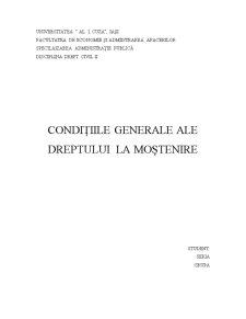 Conditiile Generale ale Mostenirii - Pagina 1