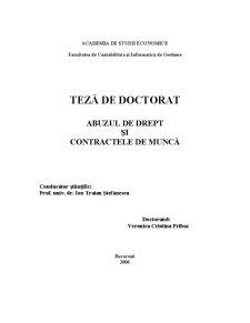 Abuzul de drept și contractele de muncă - Pagina 1