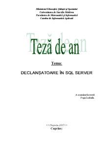 Declanșatoare în SQL Server - Pagina 1