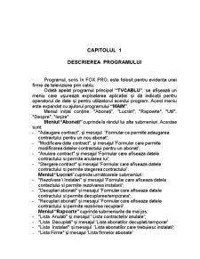 Program pentru Evidența unei Firme de Televiziune prin Cablu - Pagina 3