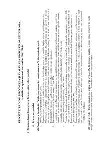 Precizări Privind Întocmirea și Evaluarea Proiectelor de Diplomă - Pagina 1