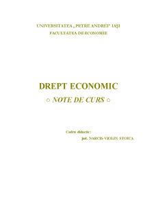 Drept Economic - Pagina 1
