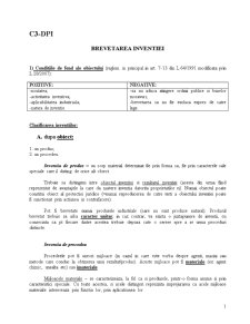 Curs 3 - Brevetarea Inventiei DPI - Pagina 1