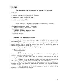 Curs 7 - Incetarea Drepturilor Nascute in Legatura cu Inventia DPI - Pagina 1