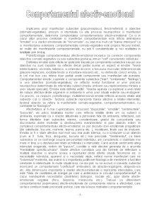 Comportamentul Afectiv - Emotional - Pagina 1