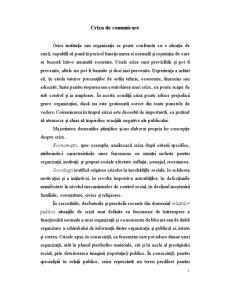 Criza de Comunicare - Pagina 1
