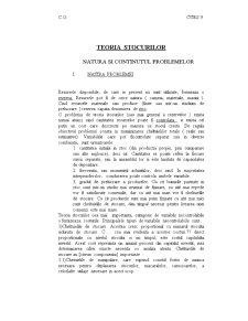 Teoria Stocurilor - Natura si Continutul Problemelor - Pagina 1