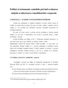 Politici și Tratamente Contabile privind Evaluarea Inițială și Ulterioară a Imobilizărilor Corporale - Pagina 3