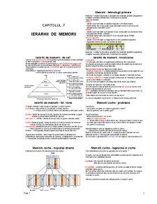 Ierarhii de Memorie - Pagina 1