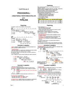 Procesorul - Cresterea Performantelor prin Pipeline - Pagina 1