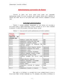 Administrarea Serverelor de Fisiere - Pagina 1