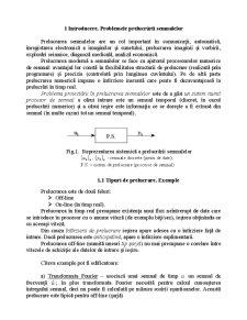 Proiectarea Numerica a Semnalelor - Pagina 1