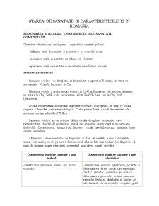 Starea de sanatate si caracteristicile ei in Romania - Pagina 1