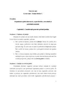 Organizarea Magistraturii, Avocaturii, Notariatului Public si Activitatii Executorilor - Pagina 1