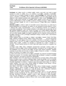 Socializarea - Factor Important în Formarea Individului - Pagina 1