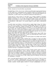Socializarea - Factor Important în Formarea Individului - Pagina 4