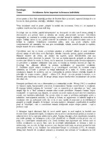 Socializarea - Factor Important în Formarea Individului - Pagina 5