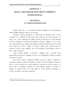 Rolul Garantiilor in Comertul International - Pagina 1