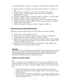 Utilizarea Procesorului de Texte Word din Microsoft Office - Pagina 2