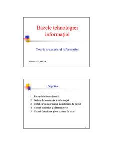 Bazele Teoriei Informaticii - Pagina 1