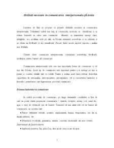 Abilitati Necesare in Comunicarea Interpersonala Eficienta - Pagina 1