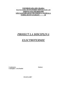 Proiect Electrotermie - Pagina 1
