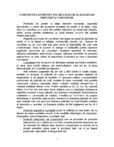 Coroziunea si Protectia Metalelor si Aliajelor Impotriva Coroziunii - Pagina 1