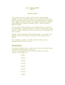 Curs HTML - Pagina 1