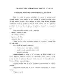 Contabilitatea Operațiunilor Bancare cu Titluri - Pagina 1