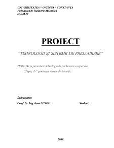 Tehnologii și Sisteme de Prelucrare - Pagina 1