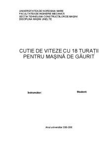 Cutie de Viteze pentru Strung - Pagina 1