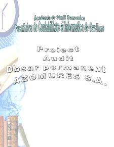 Analiza Financiar Contabila Azomures SA - Pagina 1