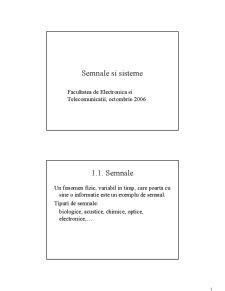 Semnale și Sisteme - Pagina 1