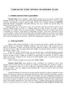 Comparatie intre Tipurile de Memorie Flash - Pagina 1