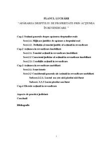 Apararea Dreptului de Proprietate prin Actiunea de Revendicare - Pagina 2
