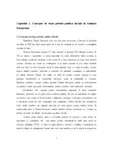 Politica Fiscala in Cadrul UE - Pagina 1