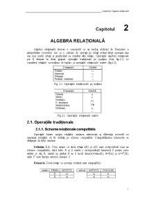Algebra Relațională - Pagina 1