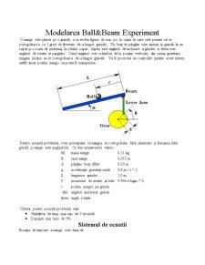 Modelarea Ball & Beam Experiment - Pagina 1