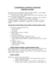 Contabilitatea Creantelor si Datoriilor Salariale si Sociale - Pagina 1