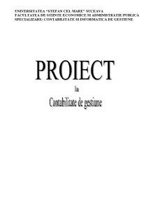 Lucrari Practice - Contabilitate de Gestiune - Pagina 1