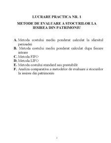 Lucrari Practice - Contabilitate de Gestiune - Pagina 2