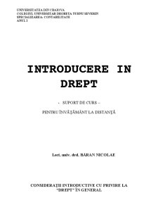 Introducere In drept - Pagina 1