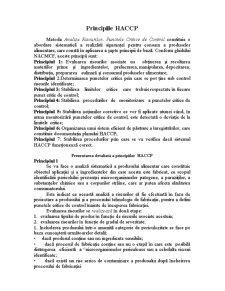 Principiile HACCP - Pagina 2