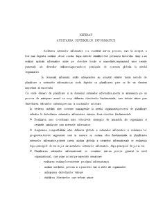Auditarea Sistemelor Informatice - Pagina 1