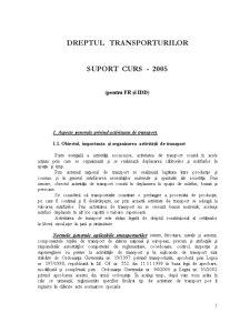 Dreptul Transporturilor - Pagina 1