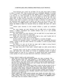 Comunicarea Multimedia prin Poșta Electronică - Pagina 1